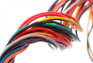 Colorful electrical cables