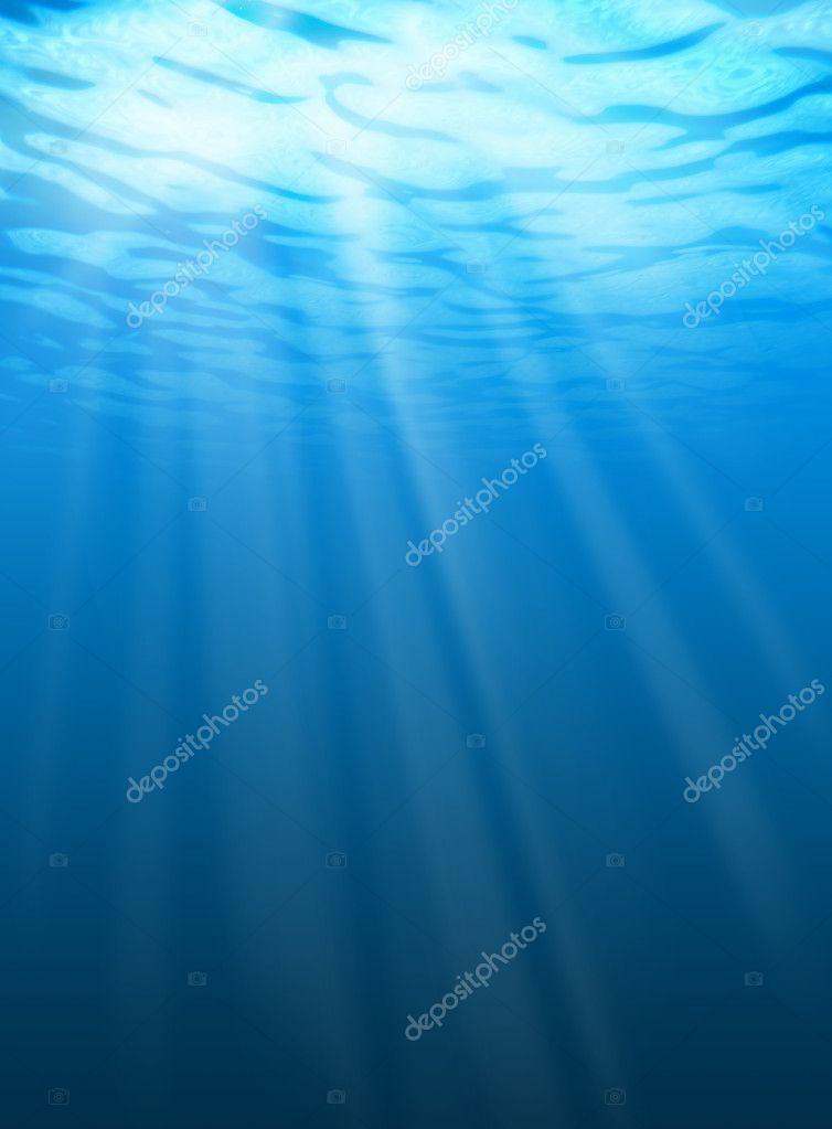 Water ripples underwater