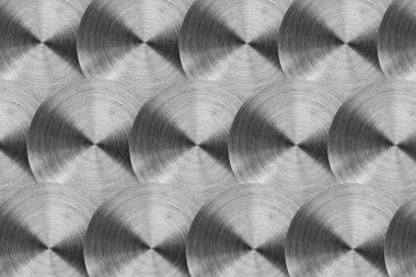 Radial stainless steel surface