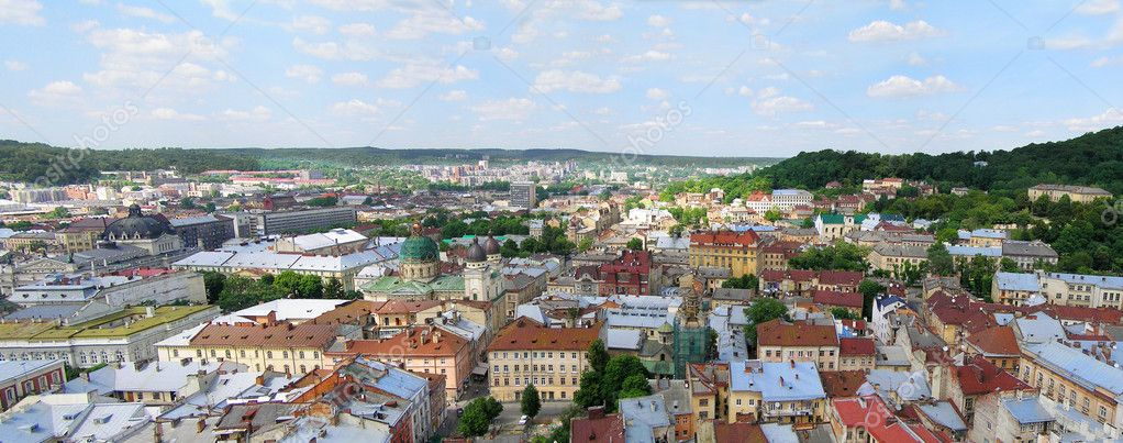 Panorama of the Lviv, Ukraine