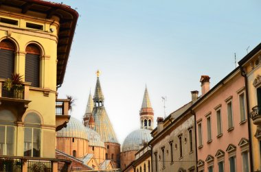 Beautiful old buildings and Saint Anthony Church in Padova, Italy