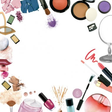 Photo of make up products stock vector