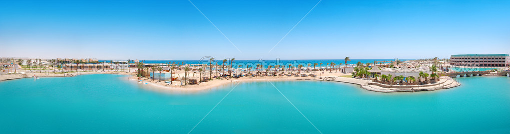 Panorama of tropical resort in Egypt