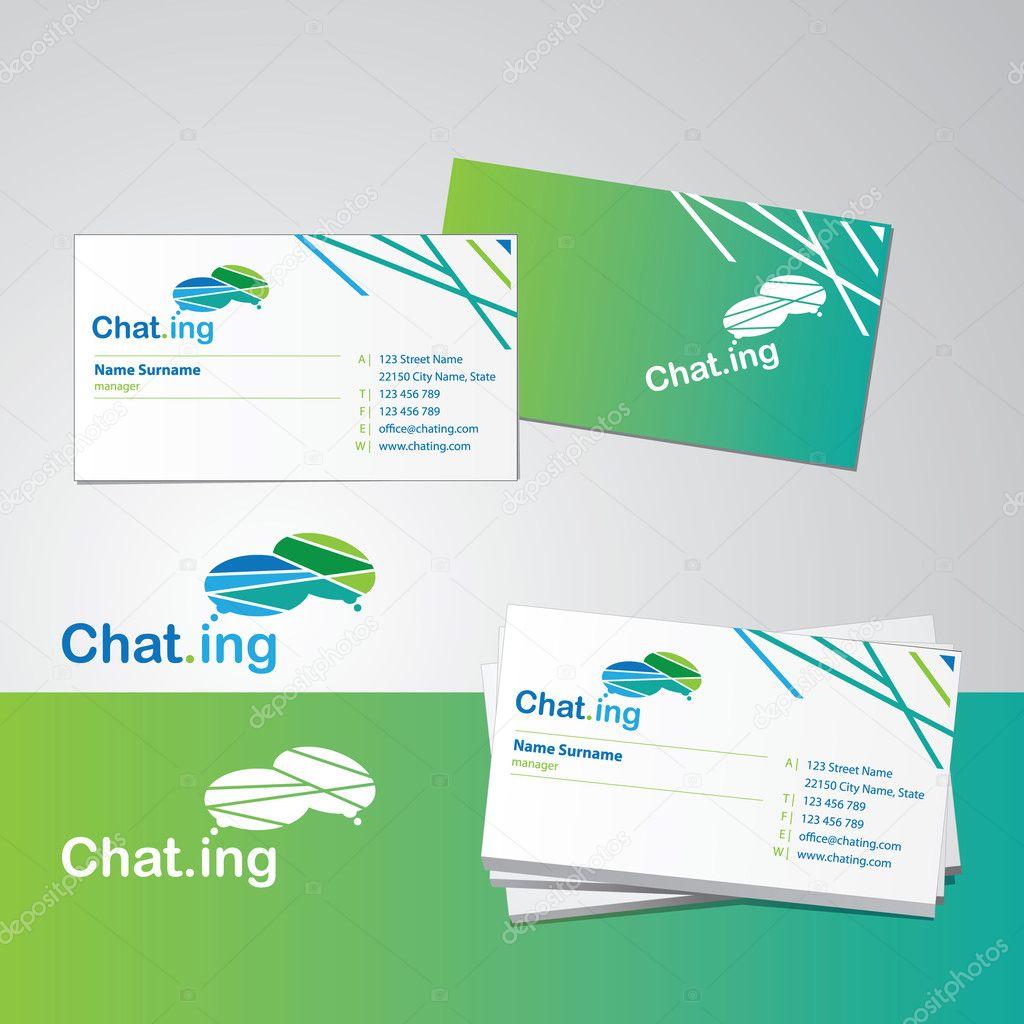 Business card design — Stock Vector © tanjakrstevska #6520175
