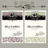 Fotografia set di etichette di olio doliva