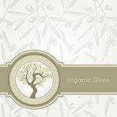 Fotografia modello di etichetta di olio di oliva