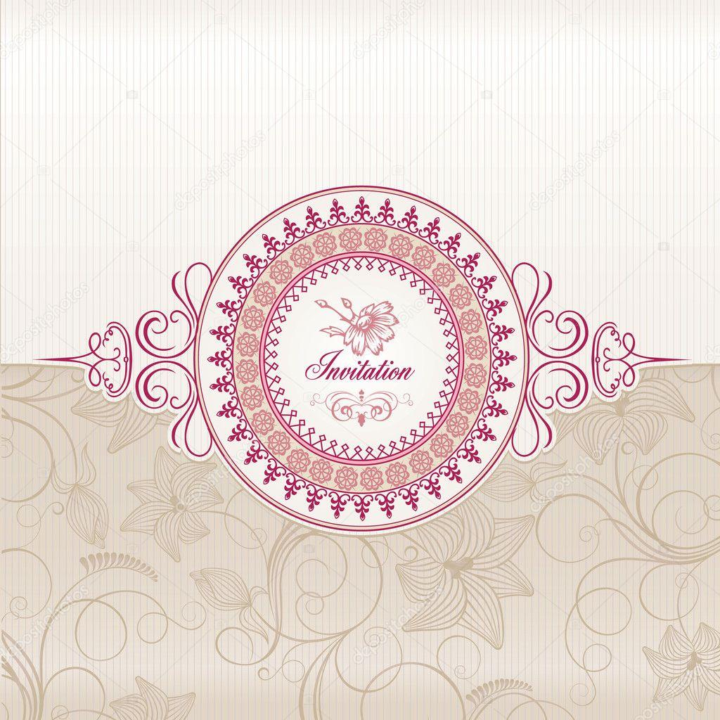Wedding Invitation Card U2014 Stock Vector #6685424