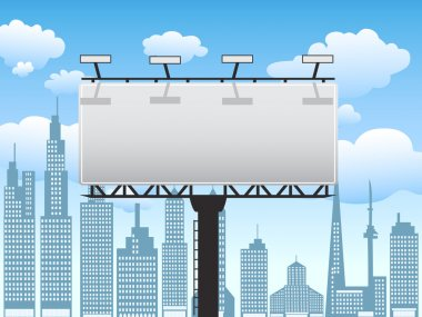Billboard in city,Vector illustration