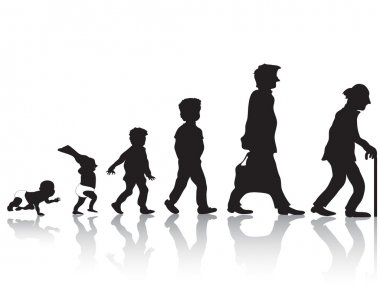 The man from young to old clip art vector