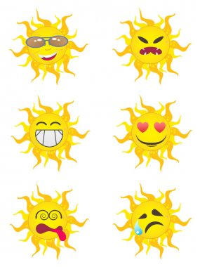 Sun Cartoon Characters