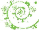Fotografie Spirale grün