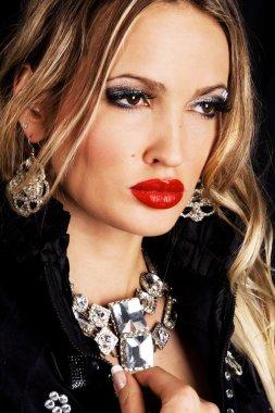Fashion model with luxury jewelry