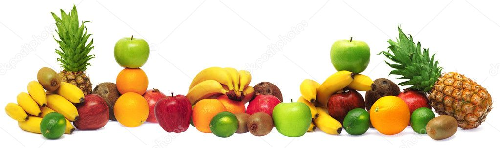 Group of fresh fruits