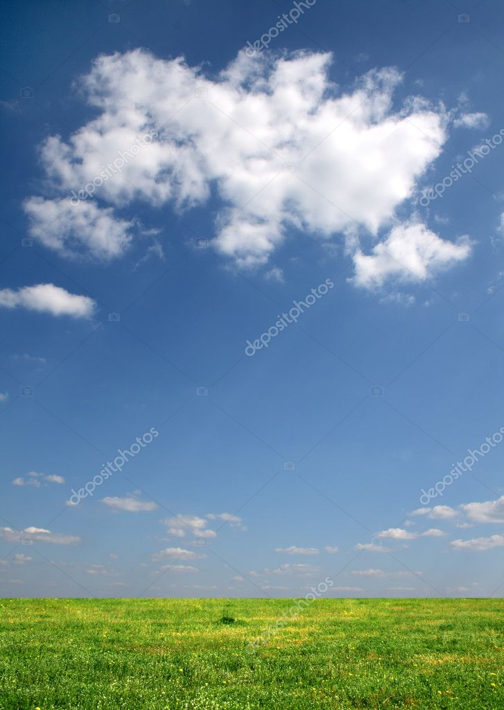 Clouds over a meadow