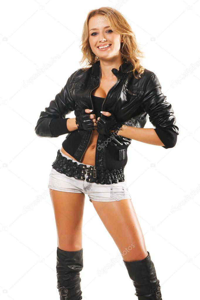 sexy frau in rock kleidung im stil stockfoto gdolgikh 5758071. Black Bedroom Furniture Sets. Home Design Ideas