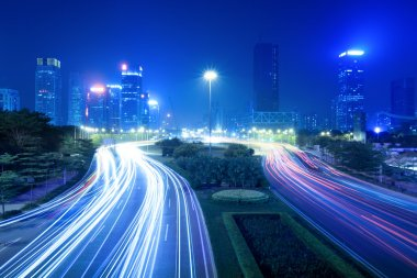 City night traffic view