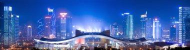 Night scene of shenzhen city