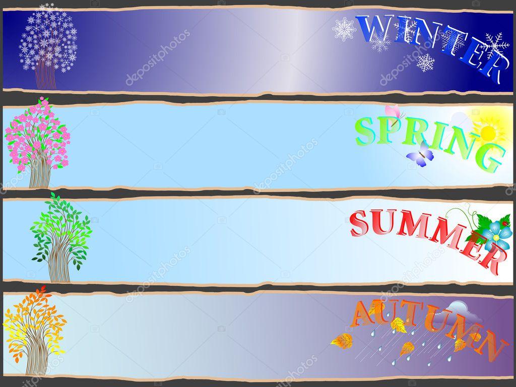 All-year seasonal banners.
