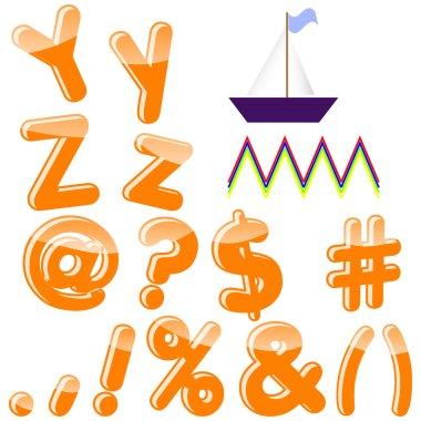 English alphabet.