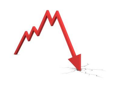 Economic Crisis. Business fall