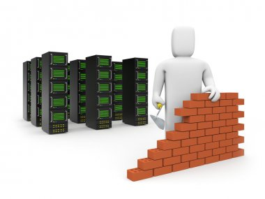 Security firewall building.