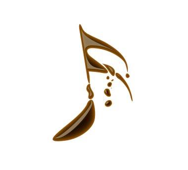 Chocolate music note