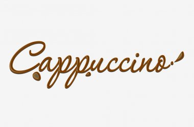 Chocolate cappuccino text