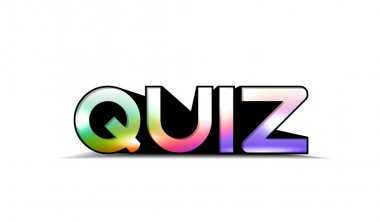 Colorful quiz text