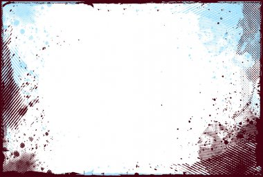 Abstract grunge border design element - vector clip art vector