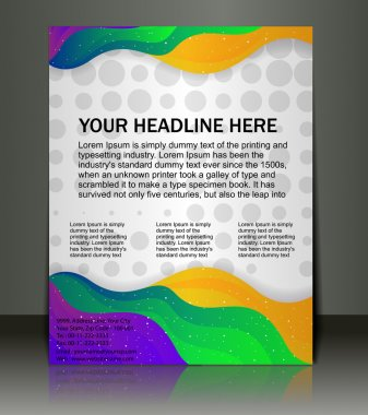 Vector editable Presentation of Flyer/Poster design content background. stock vector