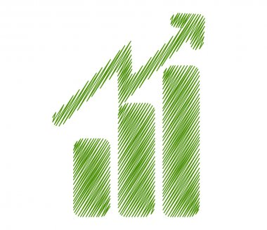 Growth progress symbol