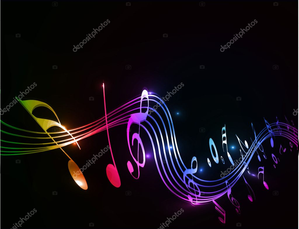 Music notes background stock vector redshinestudio for Fotos 2048x1152