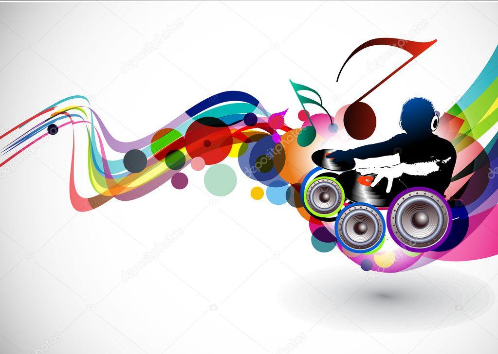 dj playing music clip art