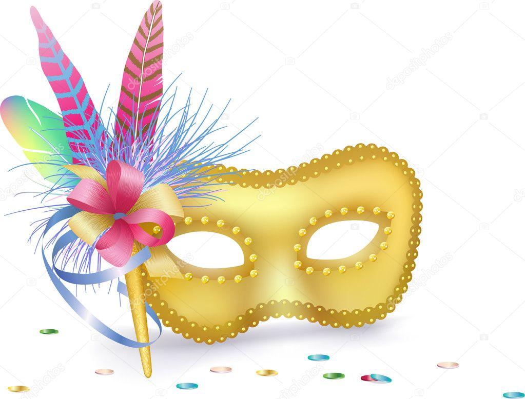 Carnival venetian mask isolated stock vector yaskii - Mascaras de carnaval de venecia ...