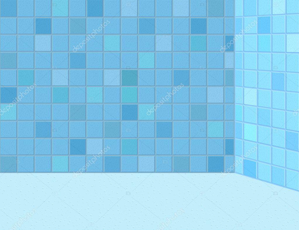 Tiled bathroom wall — Stock Vector © yaskii #5572586