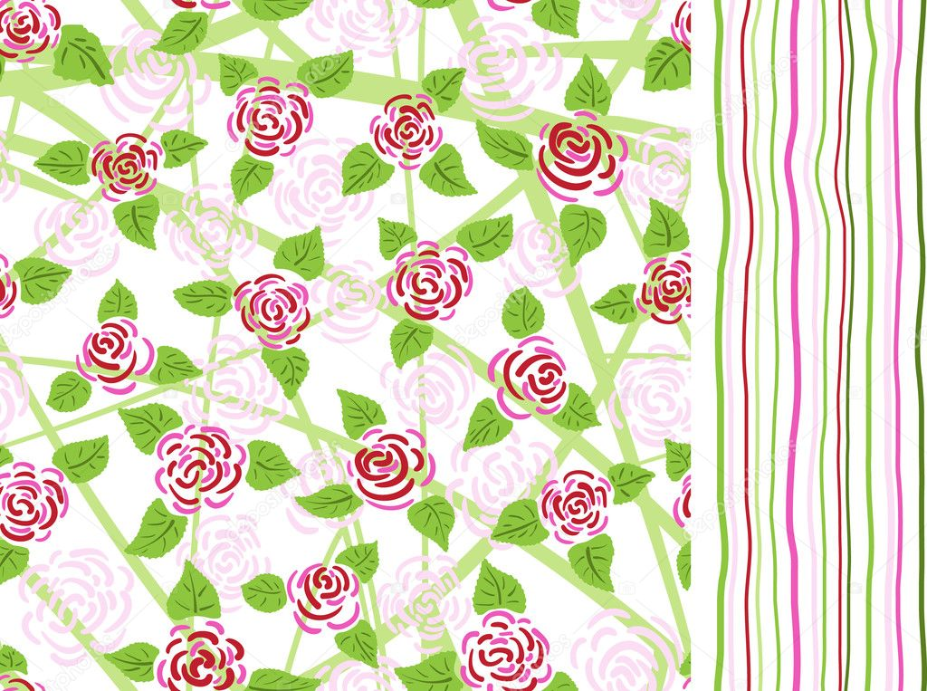 Roses and stripes patterns