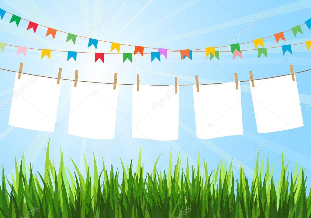 Hanging paper