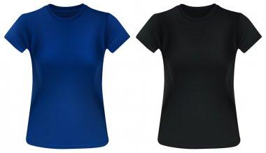 Woman t-shirt template