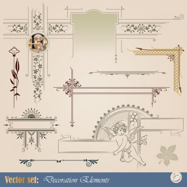 Decorative elements for design of printed materials
