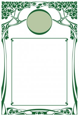 Framework in style art-nouveau
