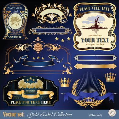 Gold decoration vector set