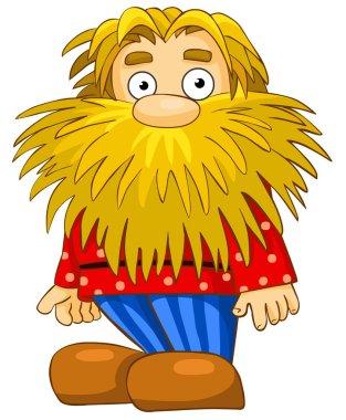Funny man with beard