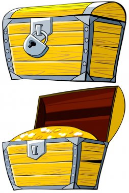 Opened and closed treasure Chest.