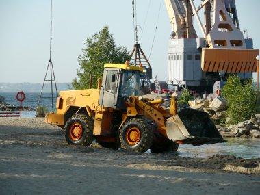 Loader excavator in action