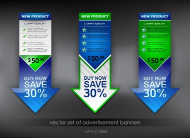 Vector set of advertisement banners
