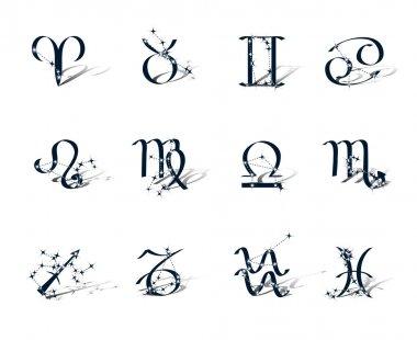 Zodiac symbols decorated zodiac constellations