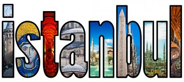 Istanbul word montage