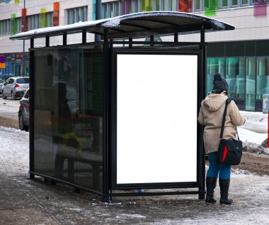 Winter bus stop