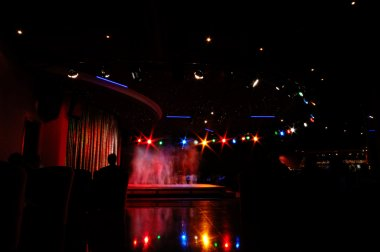 Nightclub and showdancers