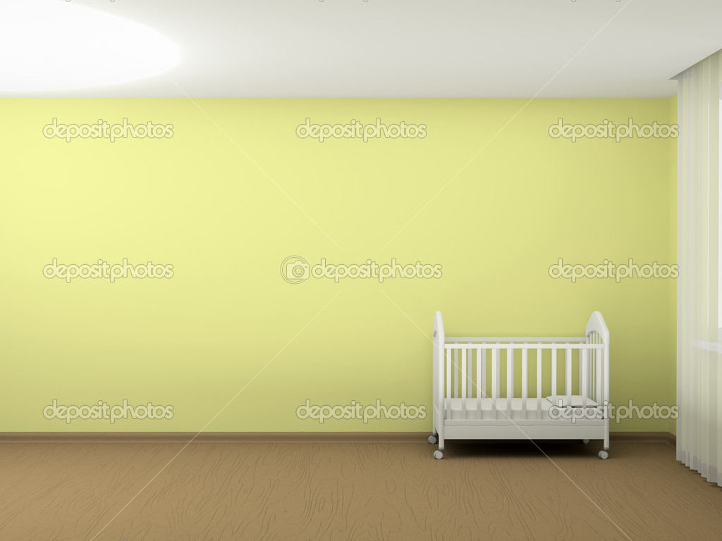 Cuna Blanca Foto De Stock Shevchenkon 5945951 # Muebles Un Kuarto